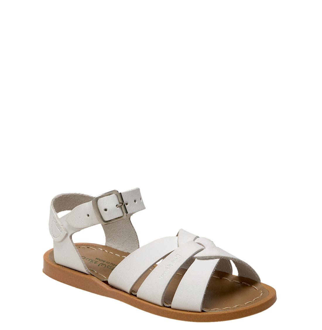 Sandal,                             Main thumbnail 1, color,                             White