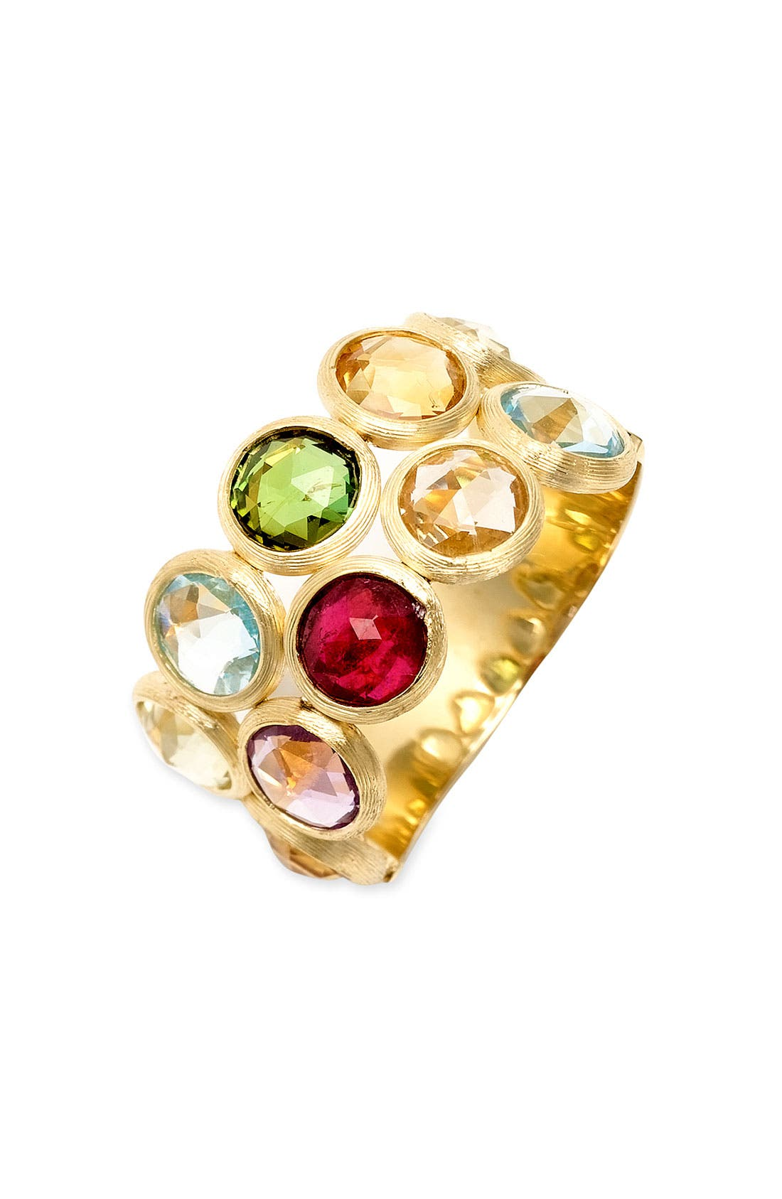 Alternate Image 1 Selected - Marco Bicego 'Mini Jaipur' Double Row Semiprecious Stone Ring