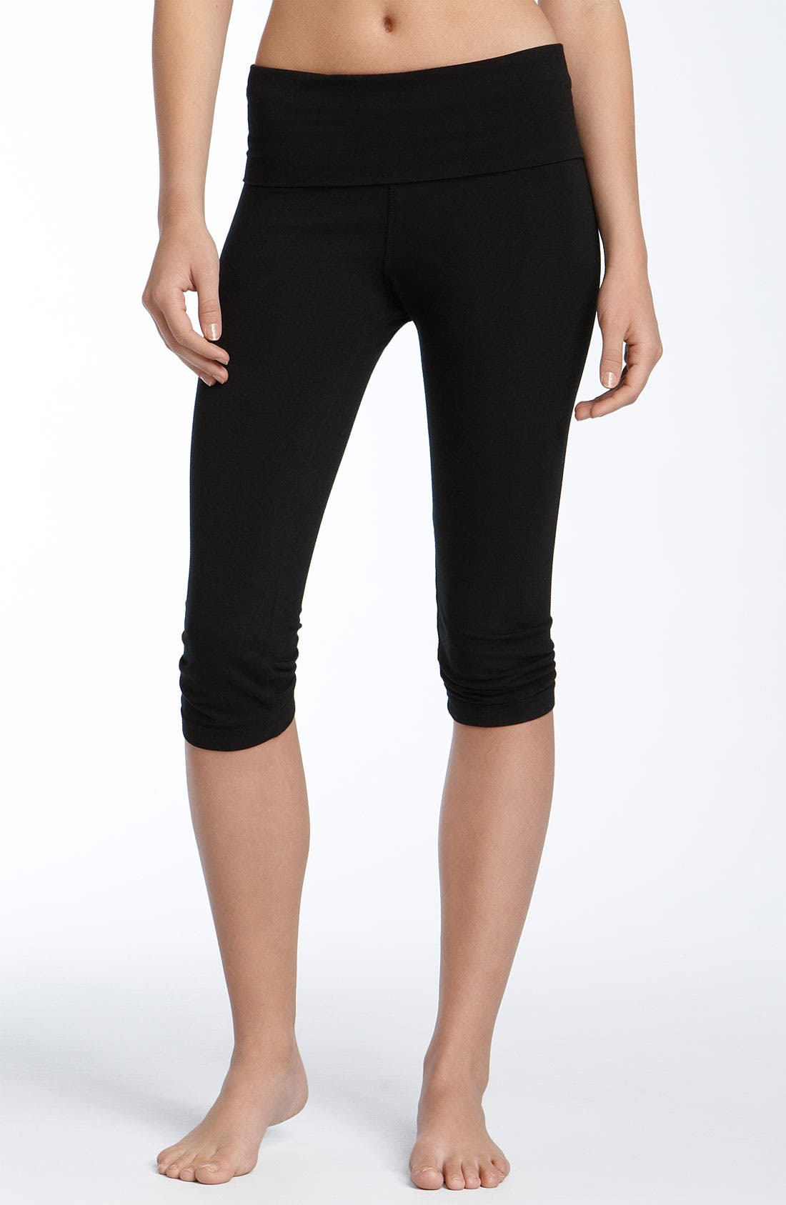 Alternate Image 2  - Hard Tail Shirred Knee Length Leggings