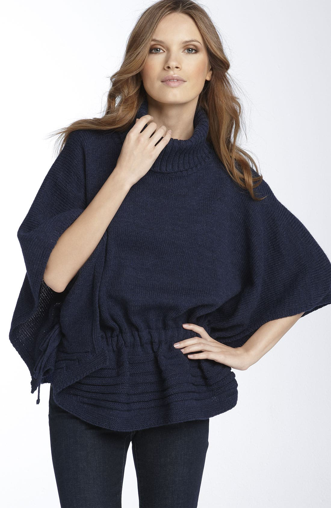 Alternate Image 2  - Nordstrom Convertible Knit Poncho