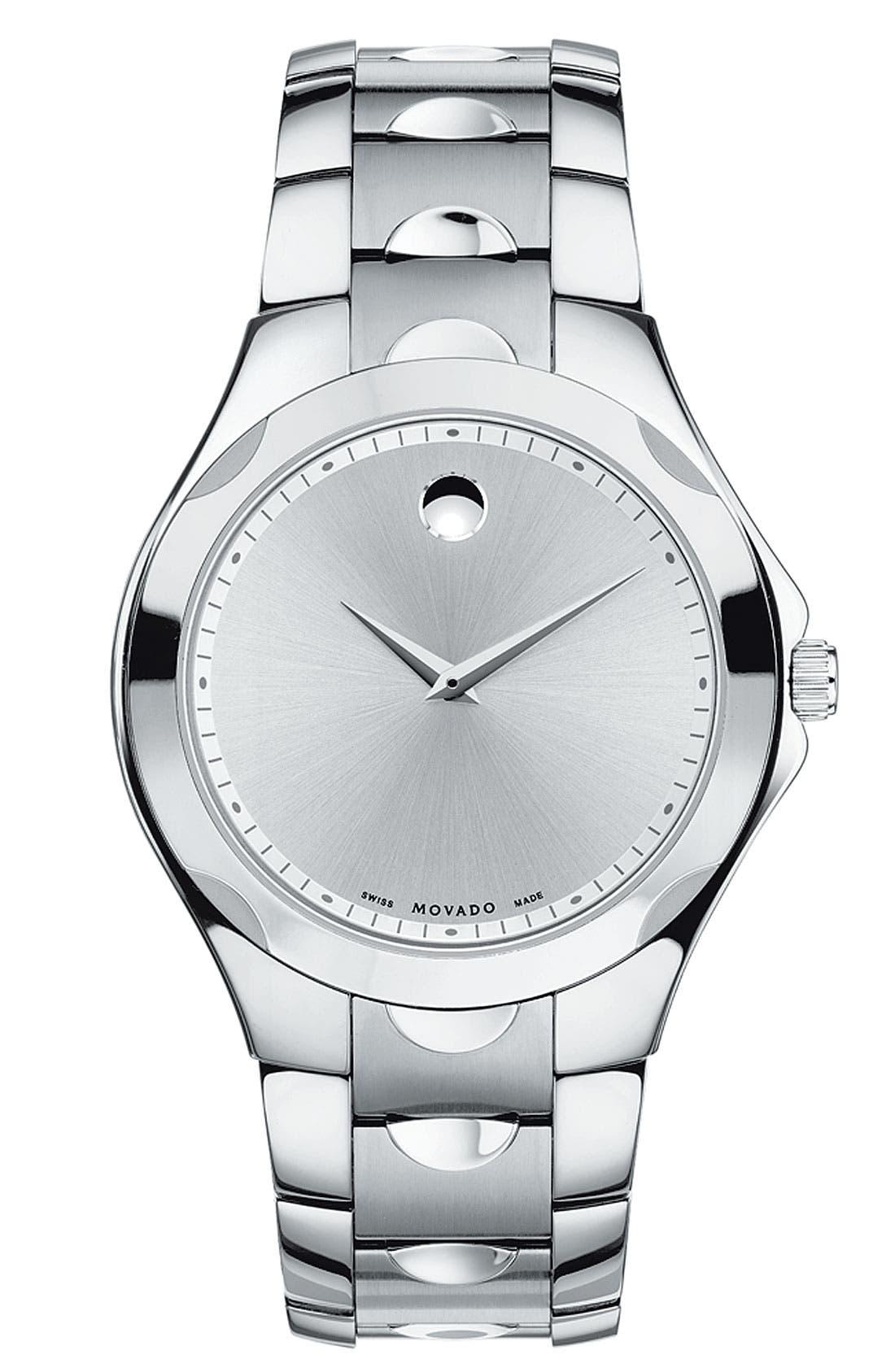 Main Image - Movado 'Luno Sport' Stainless Steel Bracelet Watch, 41mm