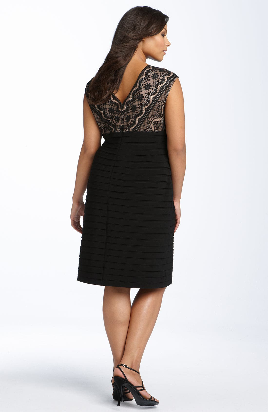 Alternate Image 2  - Adrianna Papell Lace Bodice Banded Dress (Plus Size)