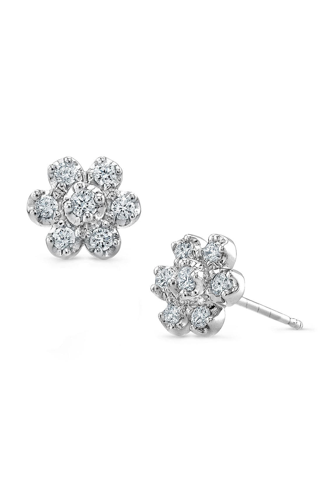 Alternate Image 1 Selected - Bony Levy Diamond Flower Stud Earrings (Nordstrom Exclusive)