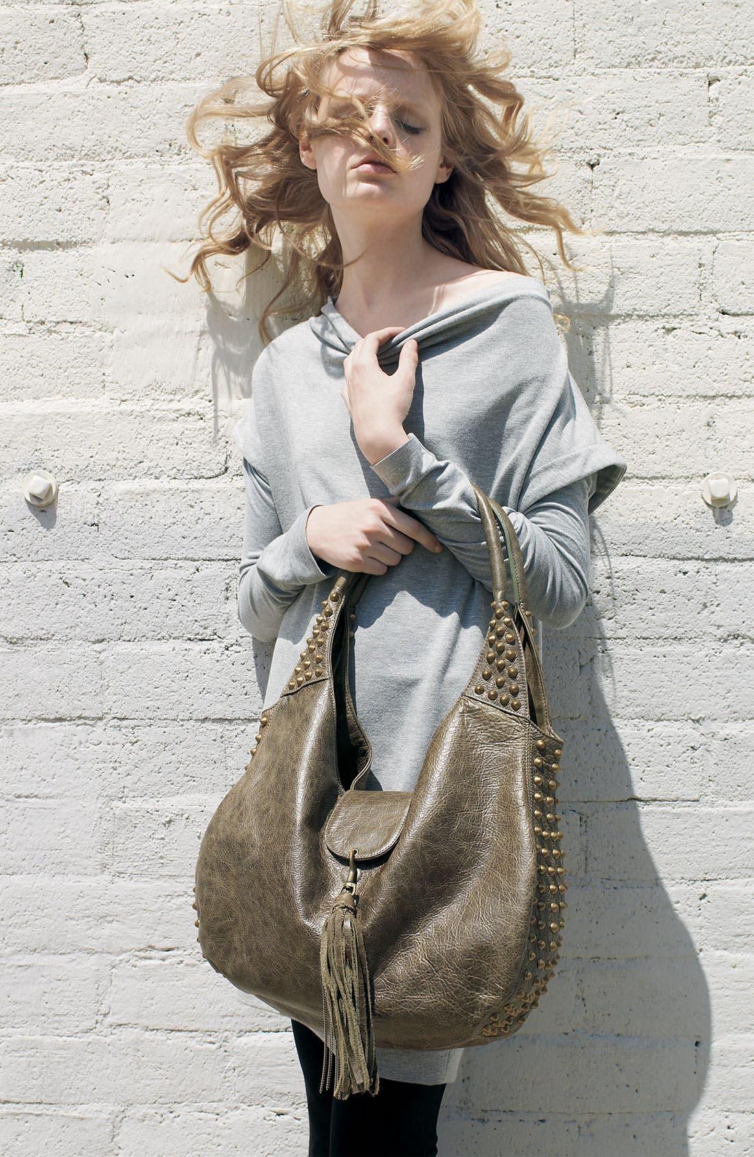 Alternate Image 4  - Cassandra LA 'Naho' Tassel Flap Leather Hobo