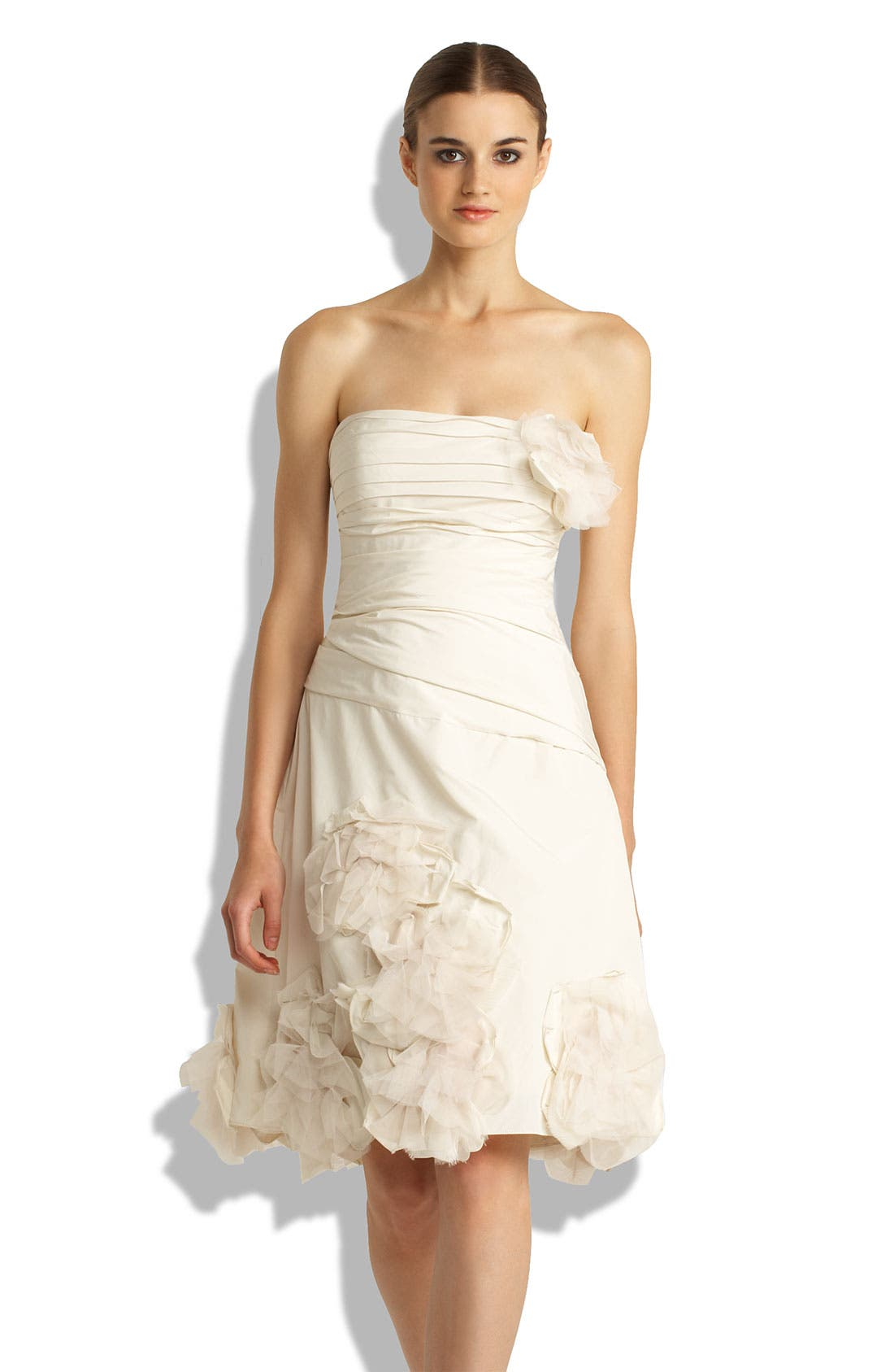 Alternate Image 1 Selected - BCBGMAXAZRIA Strapless Appliqué Dress