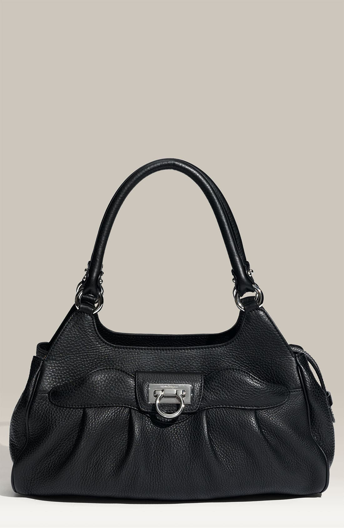 Alternate Image 1 Selected - Salvatore Ferragamo 'Vitello' Leather Shopper