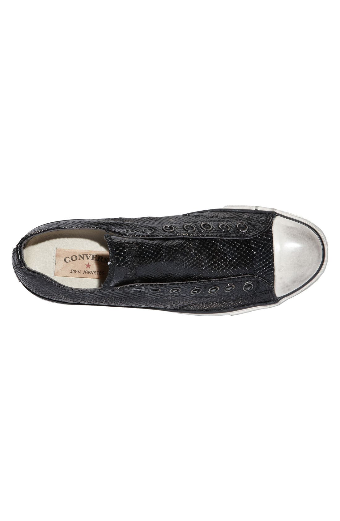 Alternate Image 2  - Converse Chuck Taylor® Textured Leather Slip-On