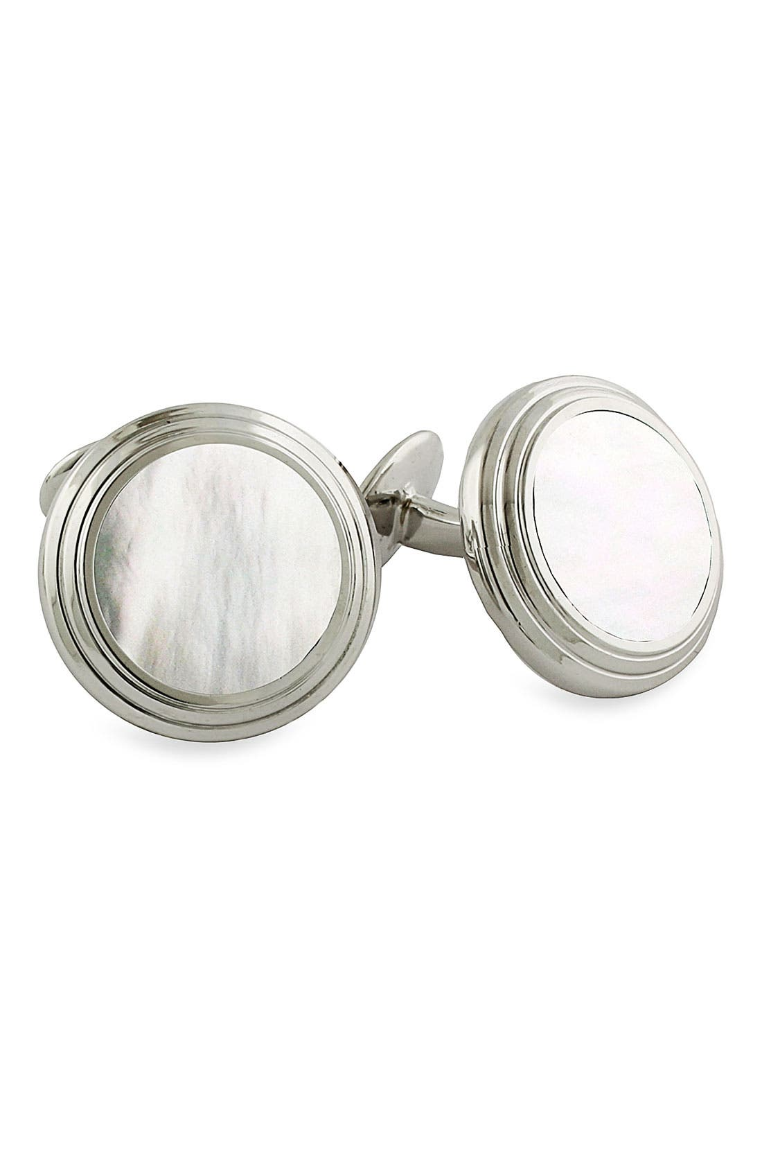 Alternate Image 1 Selected - David Donahue Mother-of-Pearl Cuff Links