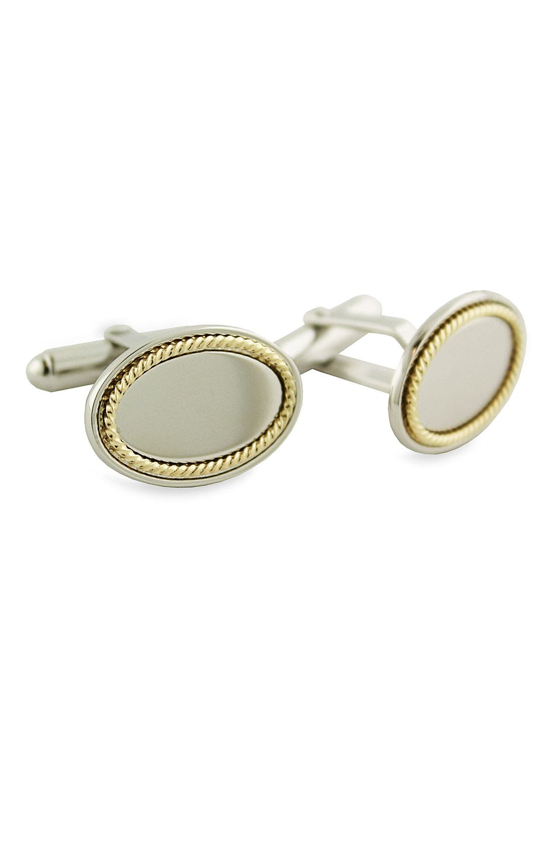Main Image - David Donahue Gold & Sterling Silver Cuff Links