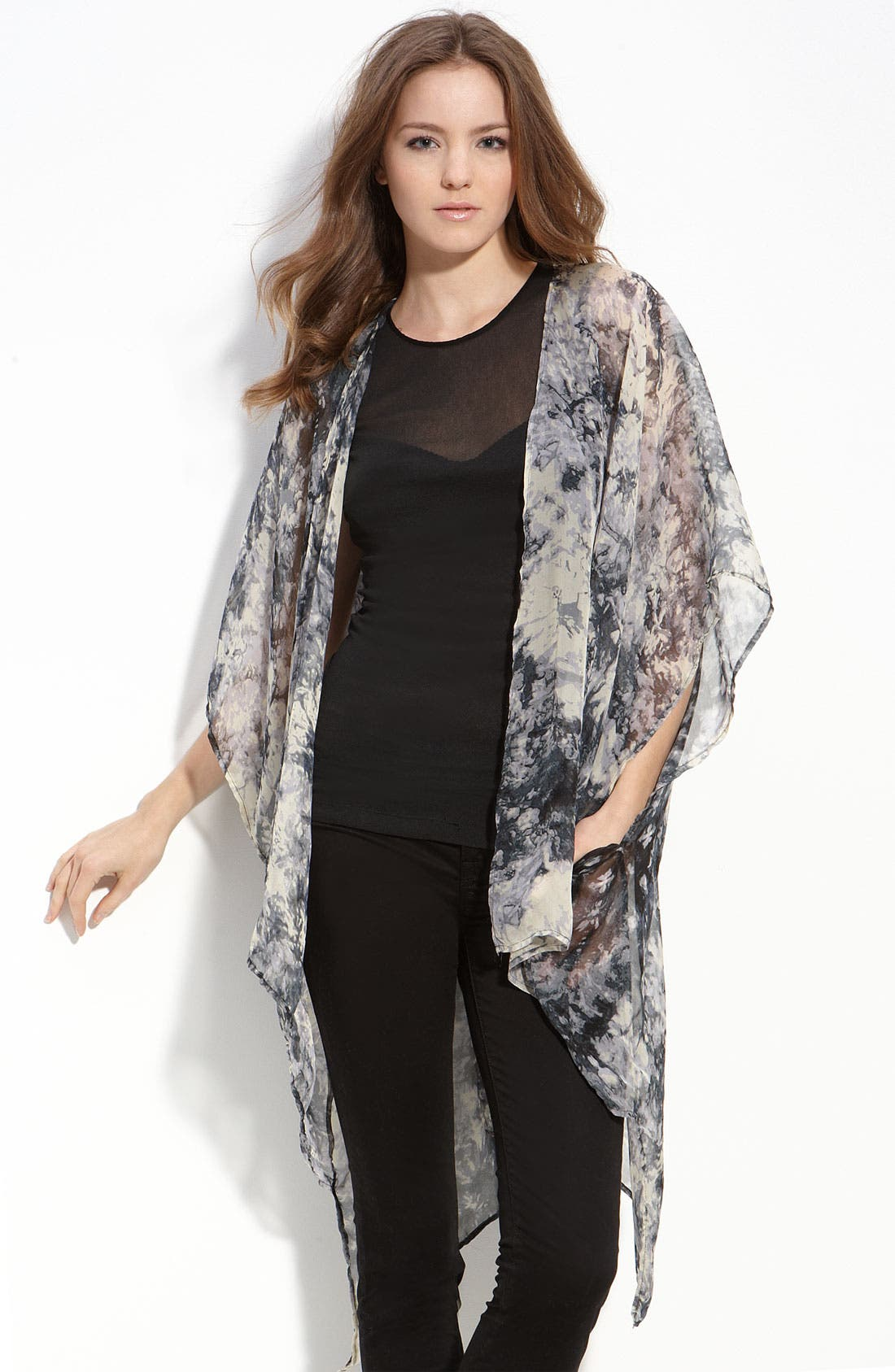 Alternate Image 1 Selected - Blain Kimono Sleeve Silk Top