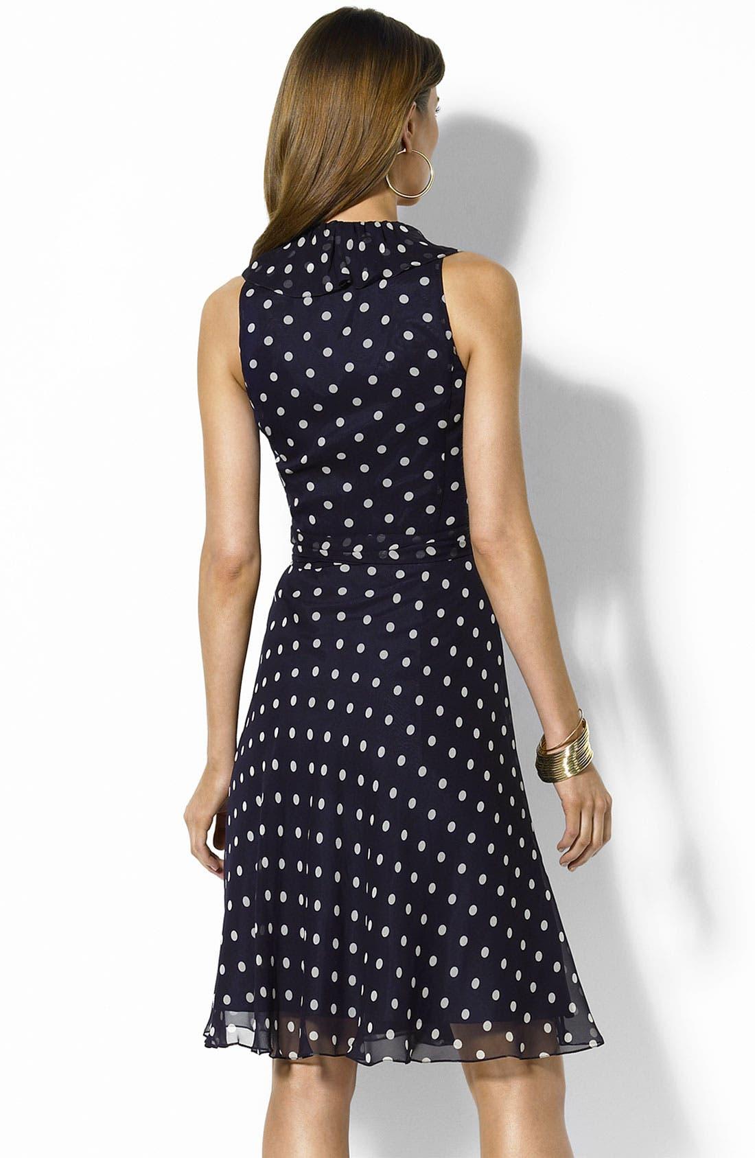 Alternate Image 2  - Lauren by Ralph Lauren Georgette Wrap Dress