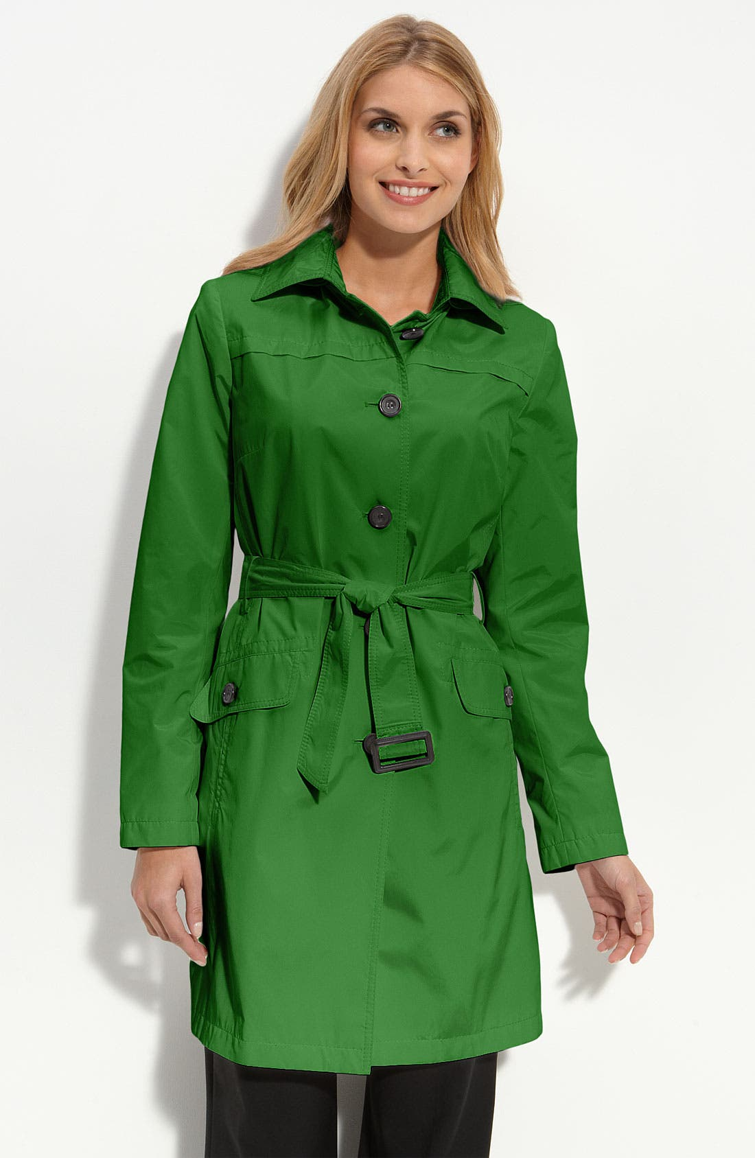 Main Image - Gallery Three Quarter Length Trench Coat