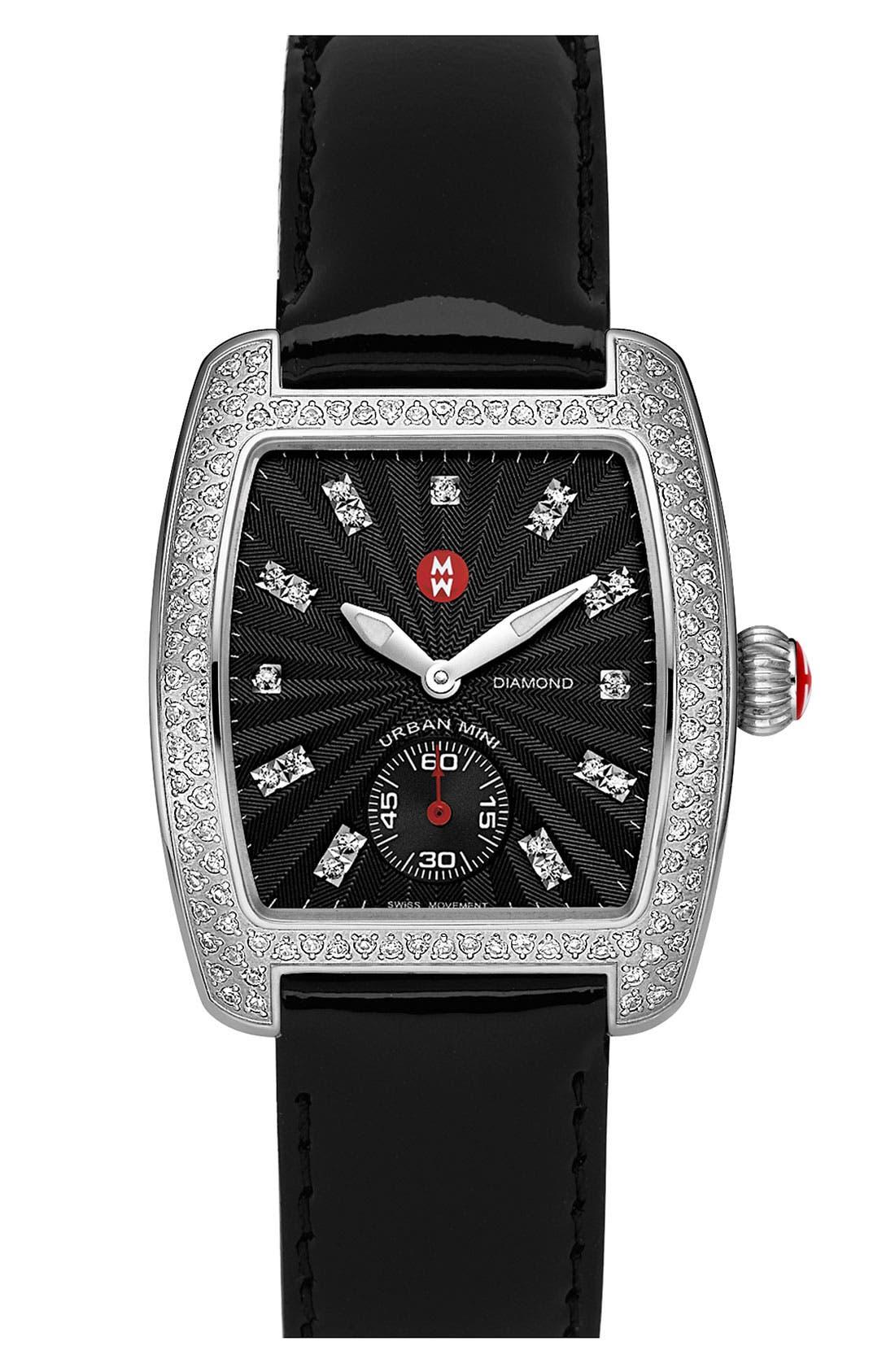 Alternate Image 2  - MICHELE 'Urban Mini Diamond' Black Dial Watch Case