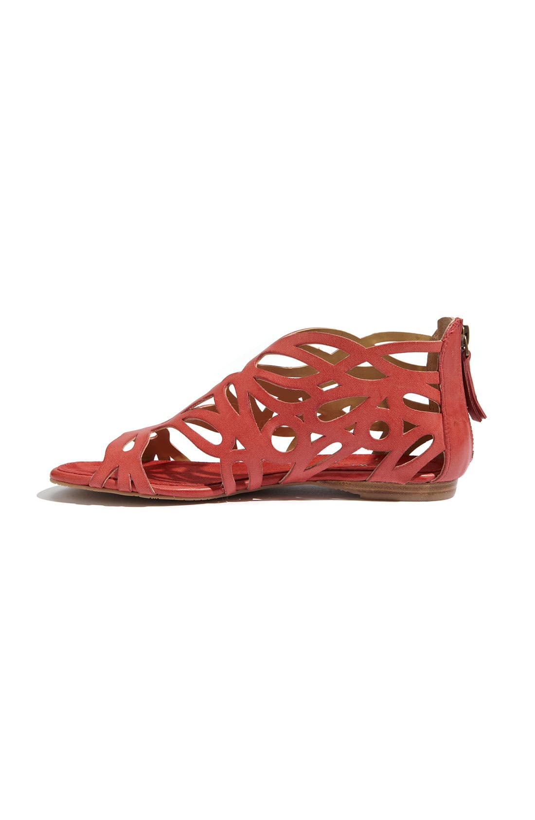 'Tali' Sandal,                             Alternate thumbnail 2, color,                             Red Leather
