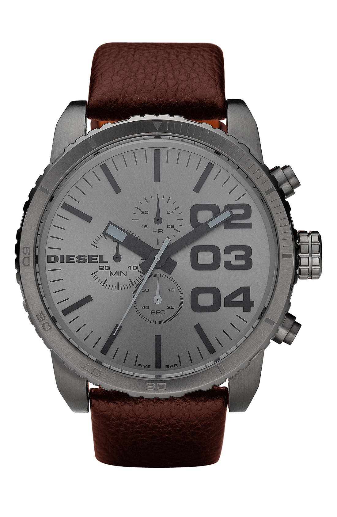 Alternate Image 1 Selected - DIESEL® 'Double Down' Large Chronograph Watch, 51mm