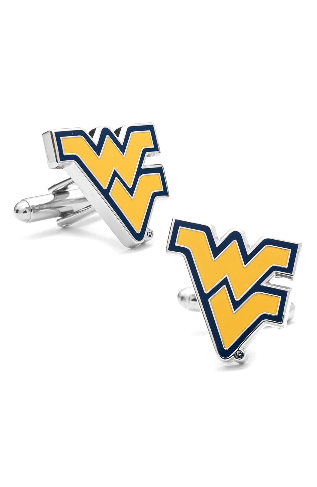 Main Image - Cufflinks, Inc. 'West Virginia Mountaineers' Cuff Links