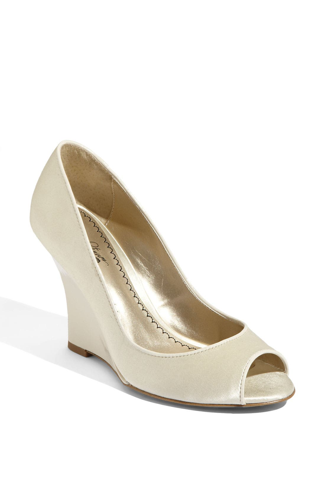 Main Image - BP. 'Fae' Satin Wedge Pump