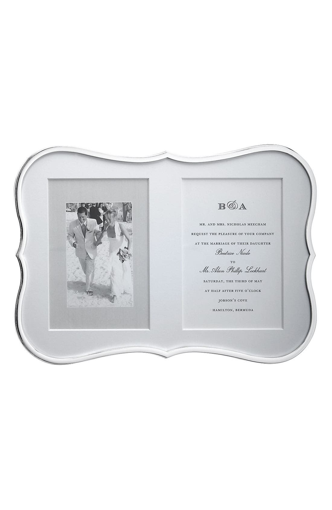 kate spade new york 'crown point' double invitation frame