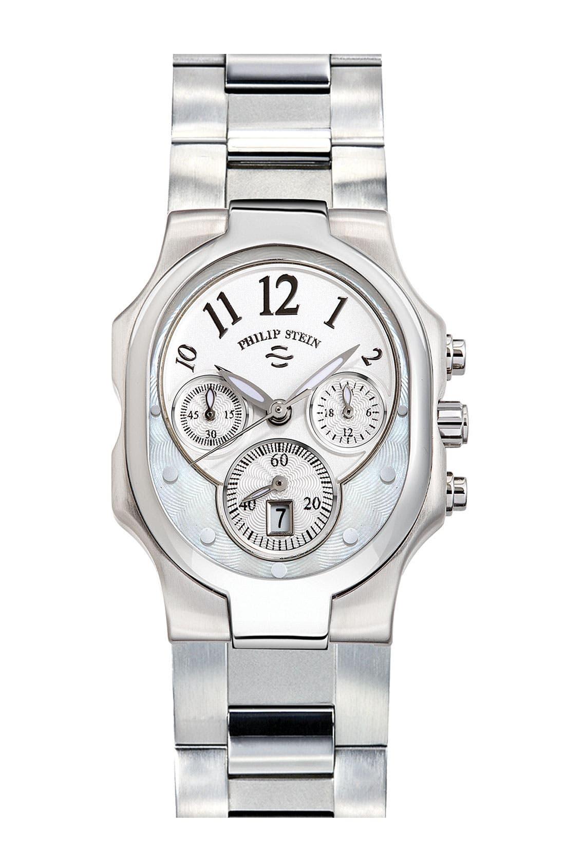 Main Image - Philip Stein® 'Classic' Small Choronograph Customizable Watch