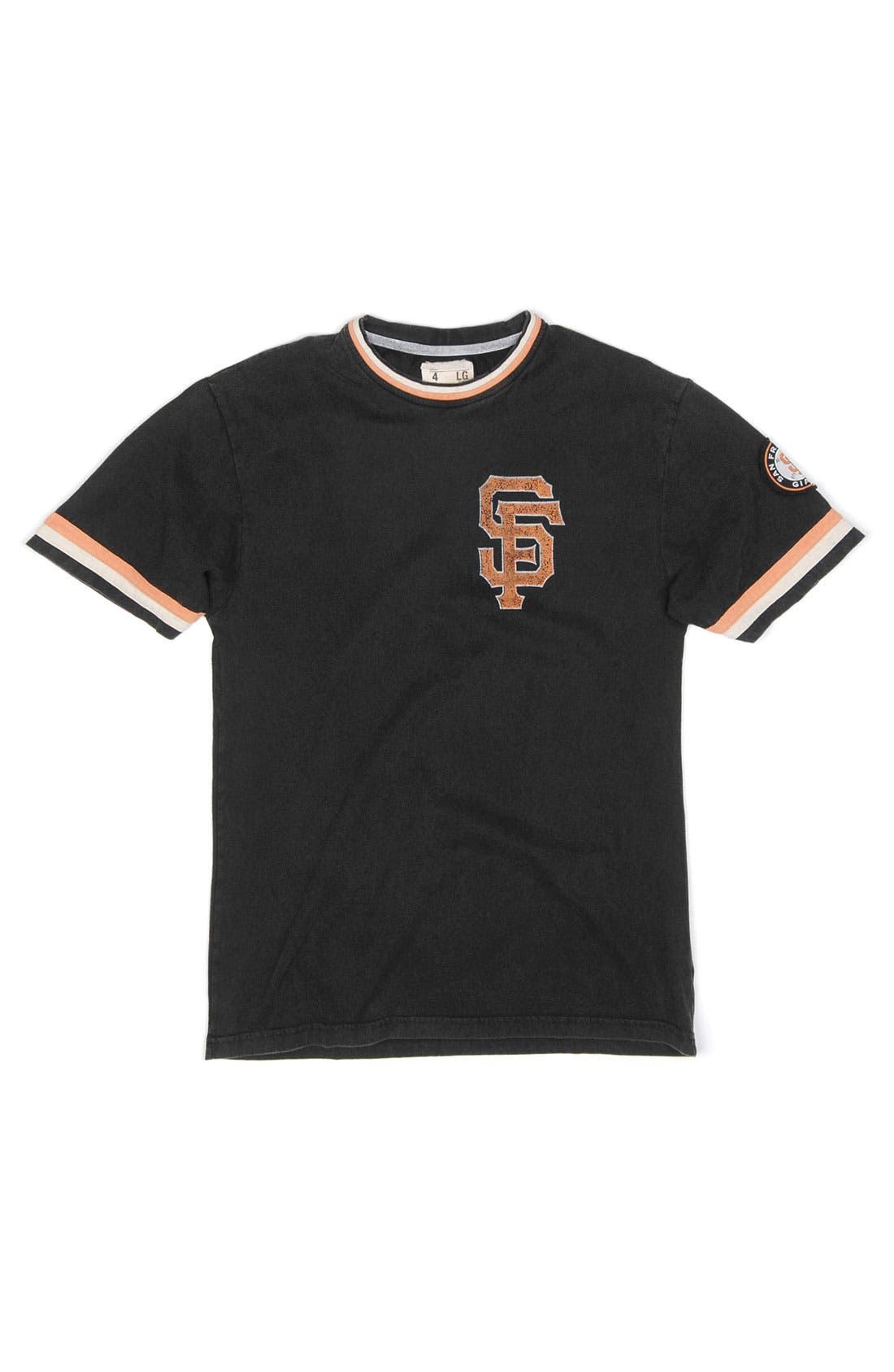 Alternate Image 4  - Red Jacket 'San Francisco Giants' Trim Fit Ringer T-Shirt (Men)