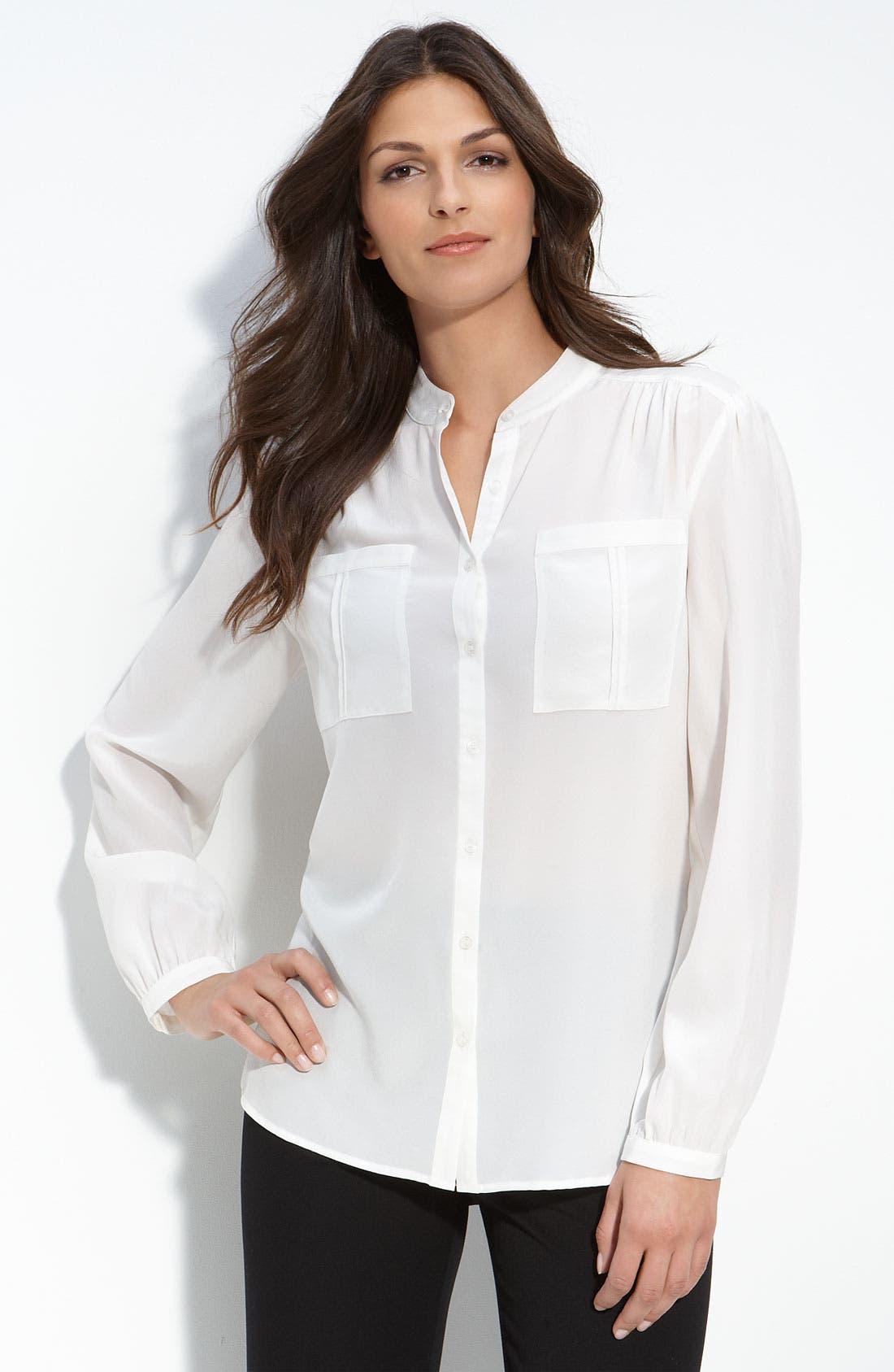 Alternate Image 1 Selected - Nexx Mandarin Collar Silk Blouse