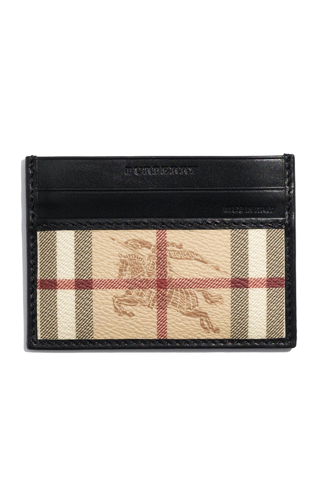 Main Image - Burberry Check Print Card Case