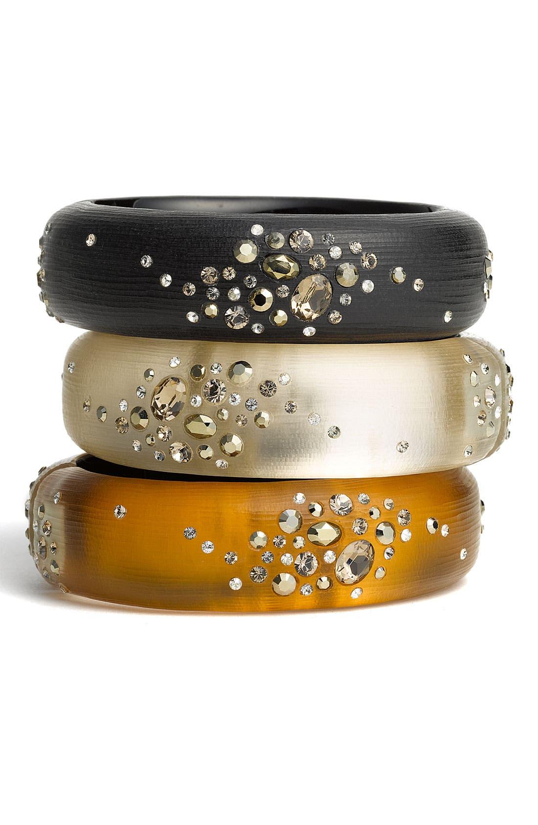 Alternate Image 1 Selected - Alexis Bittar 'Sepia Dust' Medium Hinged Bracelet (Nordstrom Exclusive)