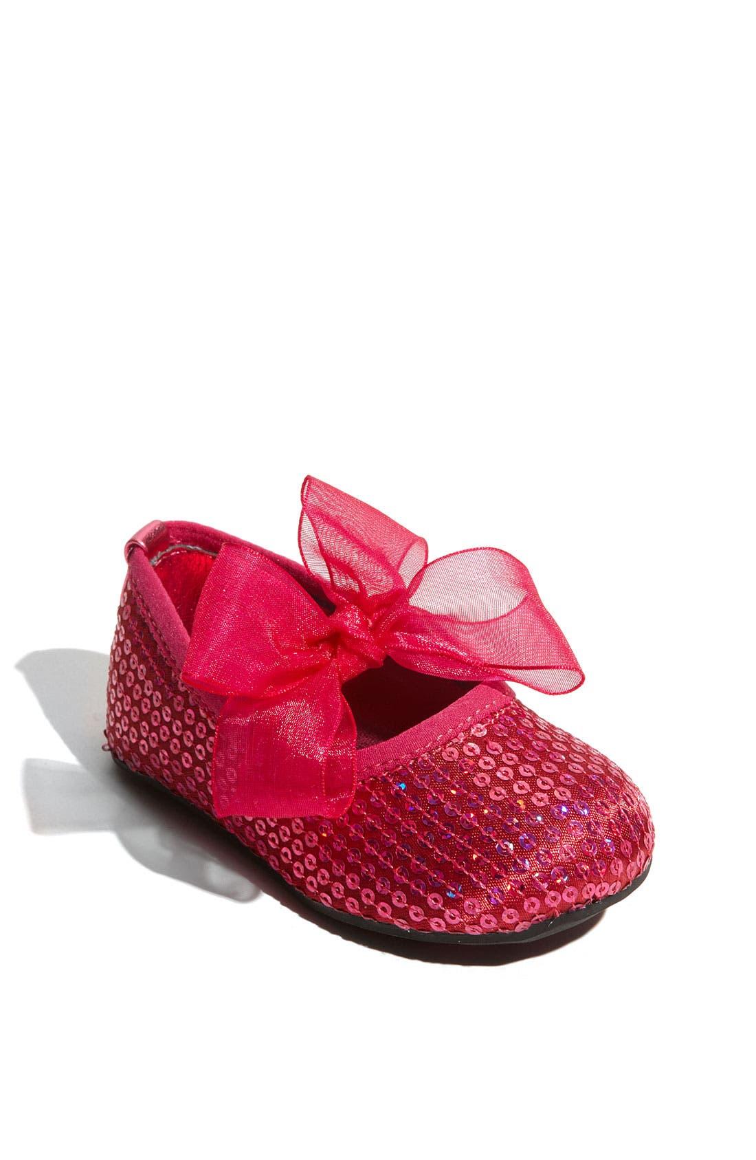 Main Image - Stuart Weitzman 'Baby Bling' Crib Shoe (Baby & Walker)