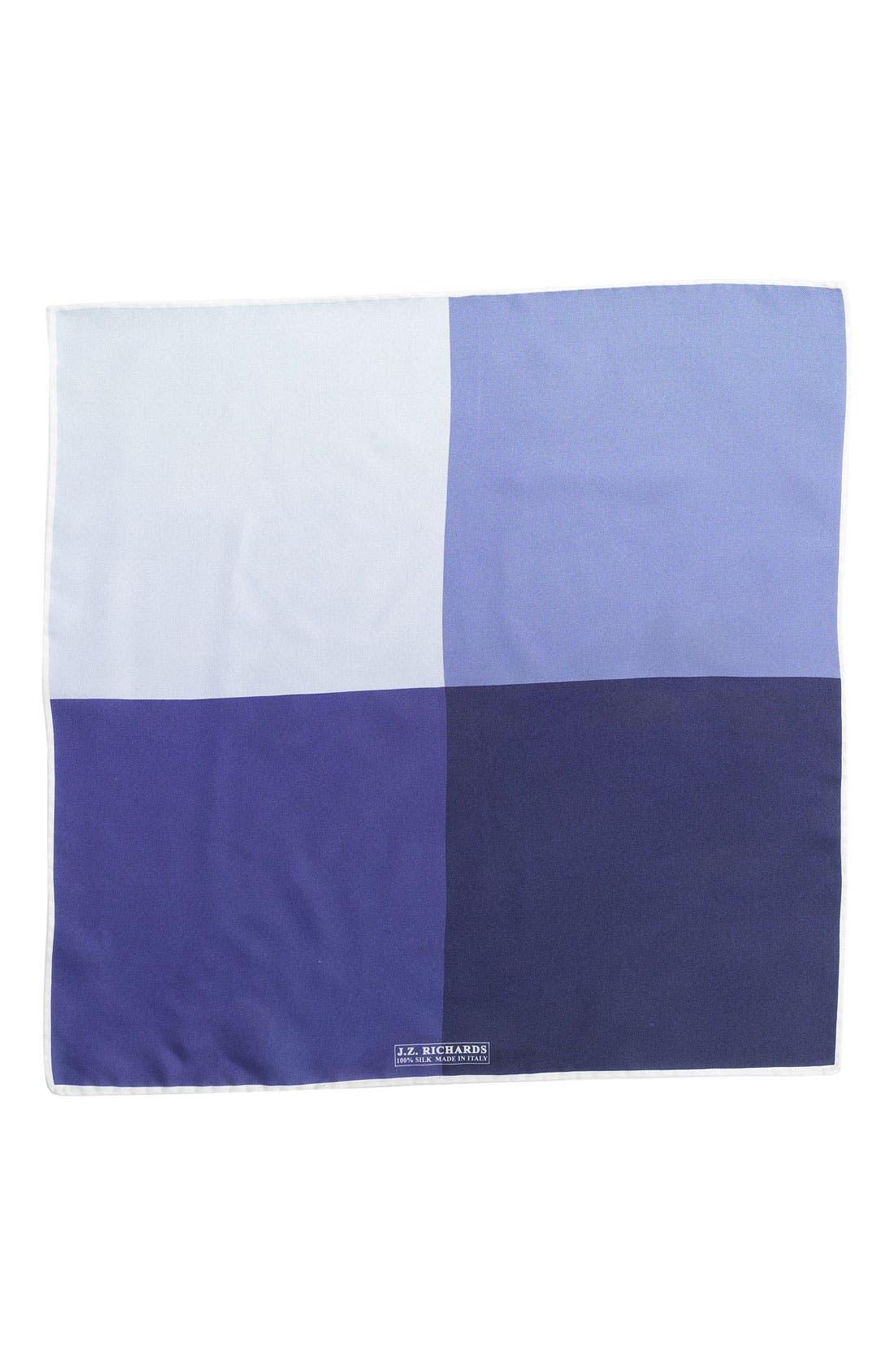 Silk Pocket Square,                         Main,                         color, Blue