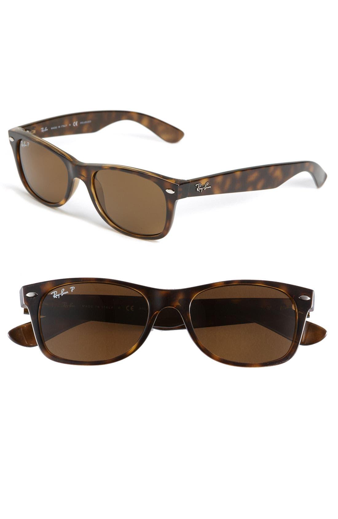 Standard New Wayfarer 55mm Polarized Sunglasses,                         Main,                         color, Brown