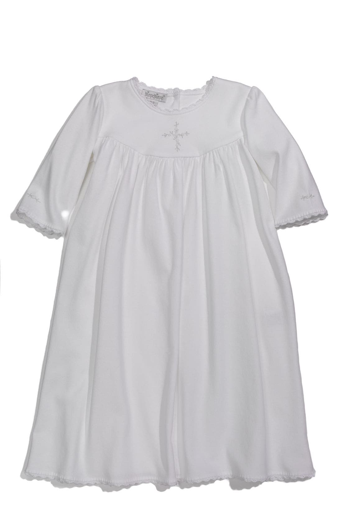 Main Image - Kissy Kissy 'Hope's Cross' Gown (Infant)