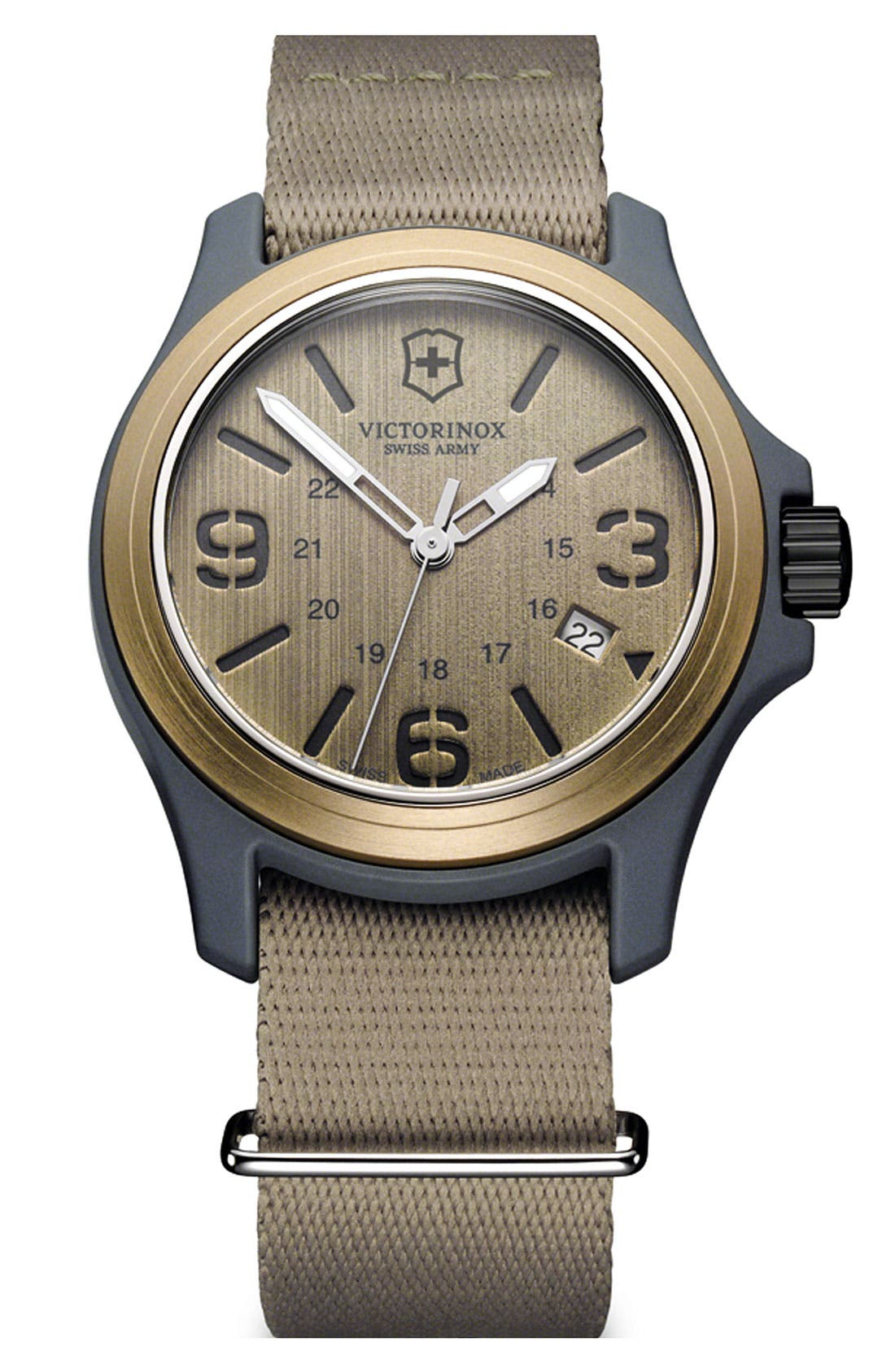Main Image - Victorinox Swiss Army® 'Original' Nylon Strap Watch, 40mm