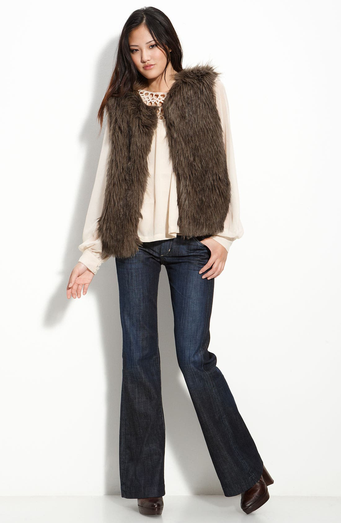 'Natalie' Faux Fur Vest,                             Alternate thumbnail 2, color,