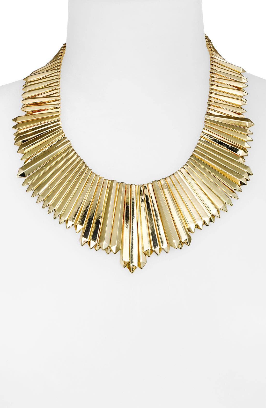 Mini Dagger Collar Necklace,                             Main thumbnail 1, color,                             Gold