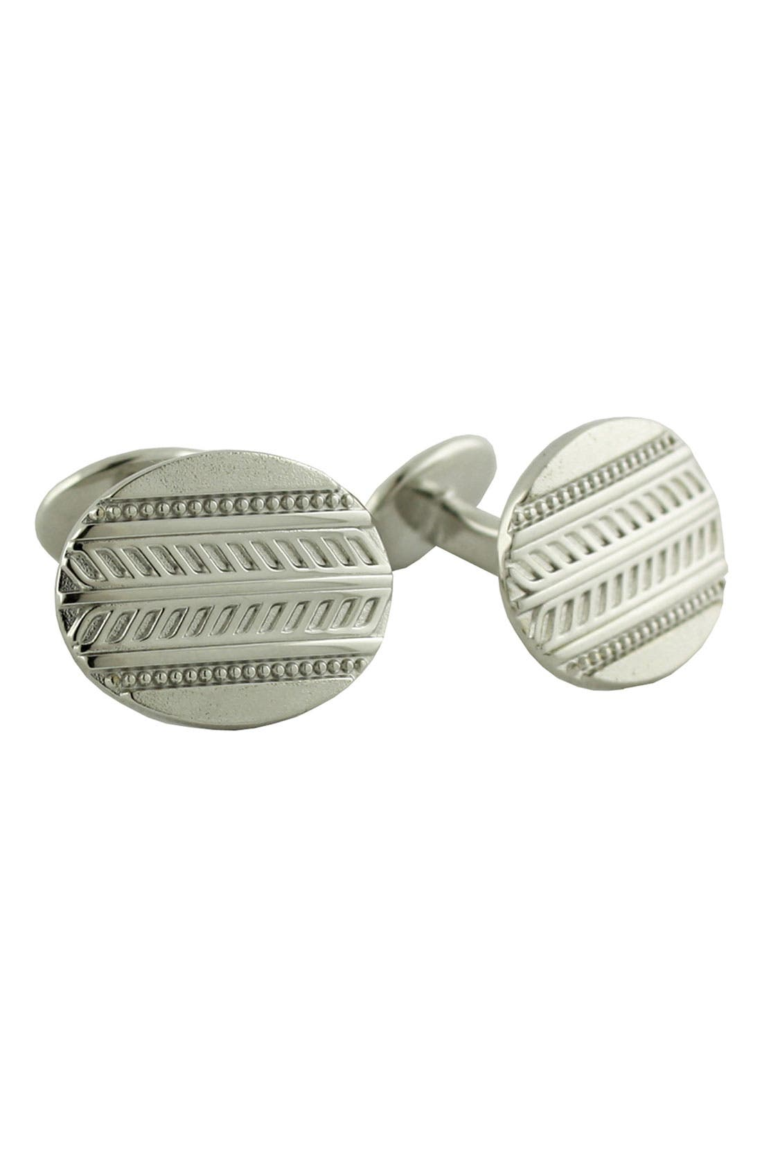 Main Image - David Donahue Oval Sterling Silver Cuff Links
