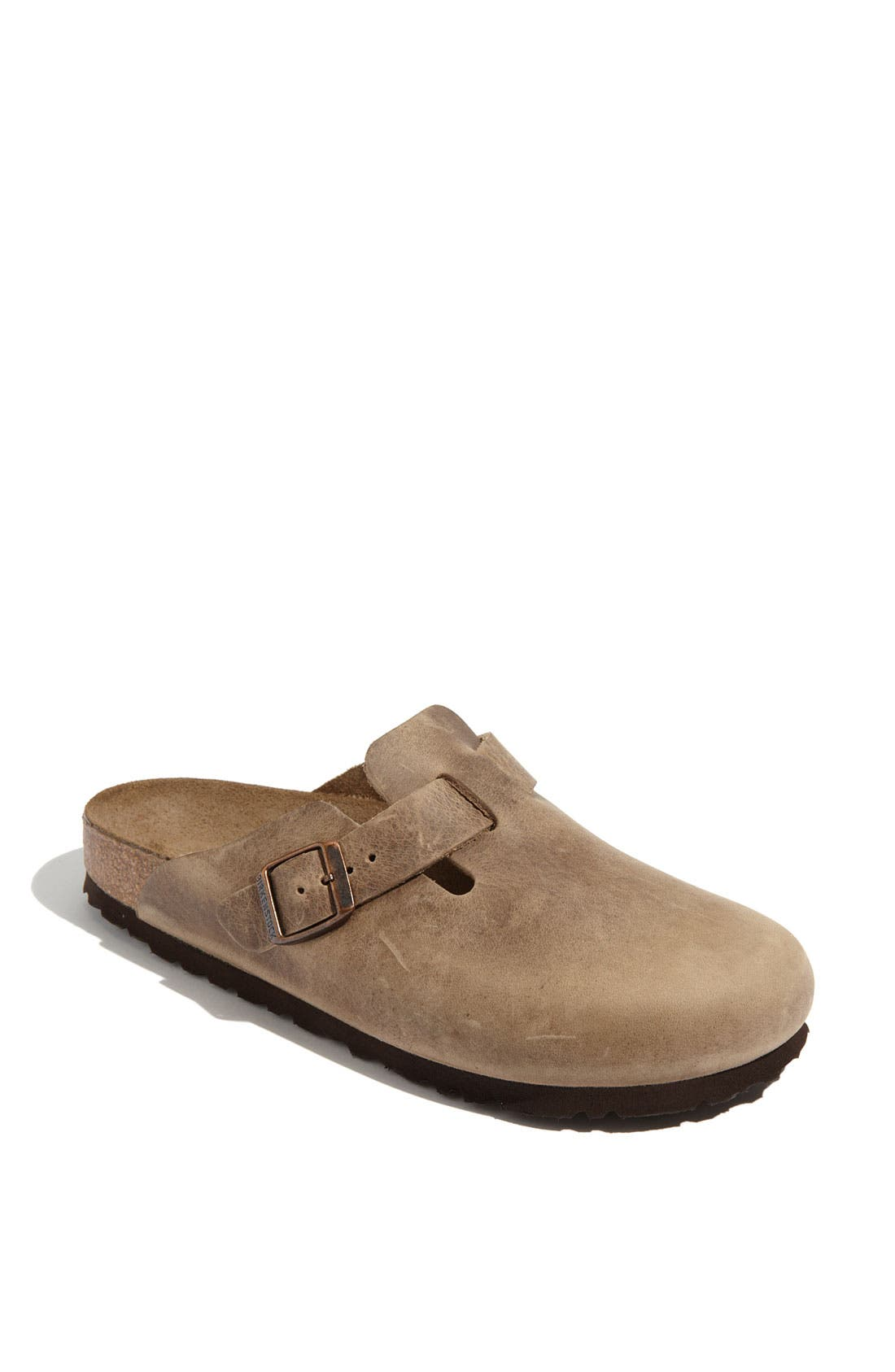 'Boston' Classic Oiled Leather Clog,                             Main thumbnail 1, color,                             Tobacco