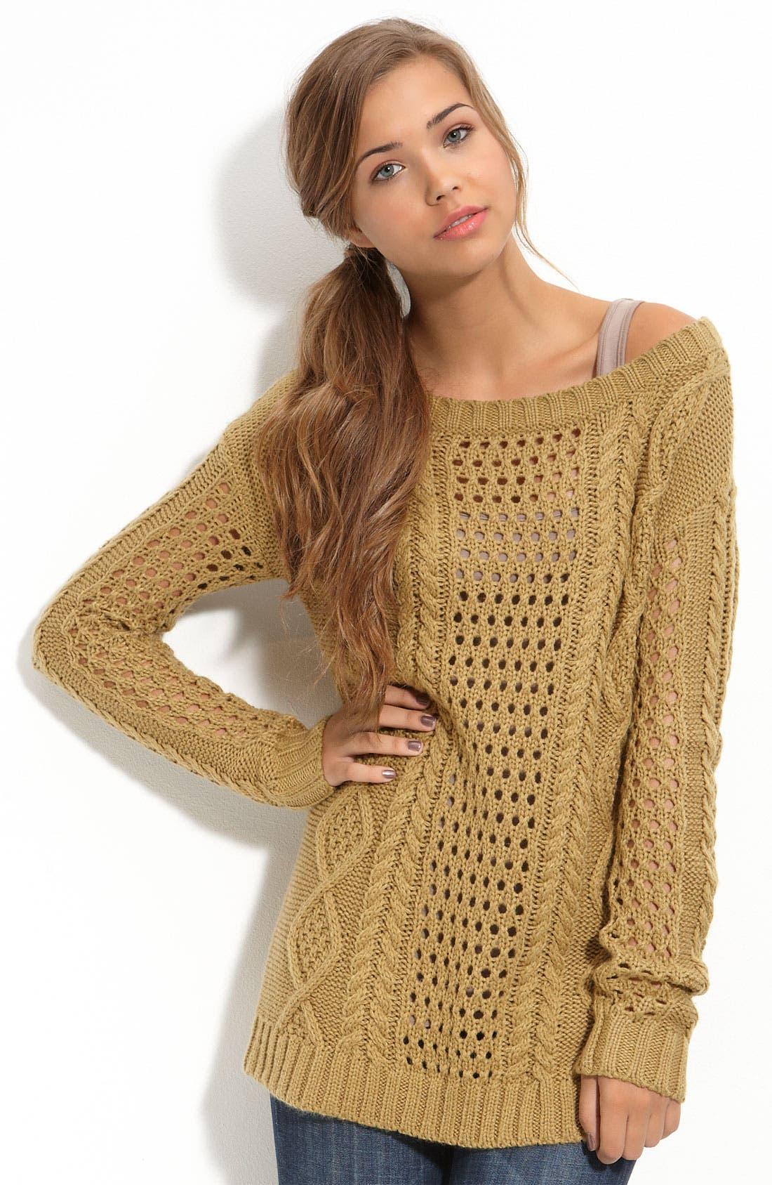 Alternate Image 1 Selected - Frenchi® Off-Shoulder Oversized Sweater