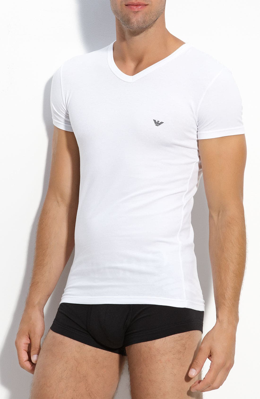 Alternate Image 1 Selected - Emporio Armani 'Eagle' V-Neck T-Shirt