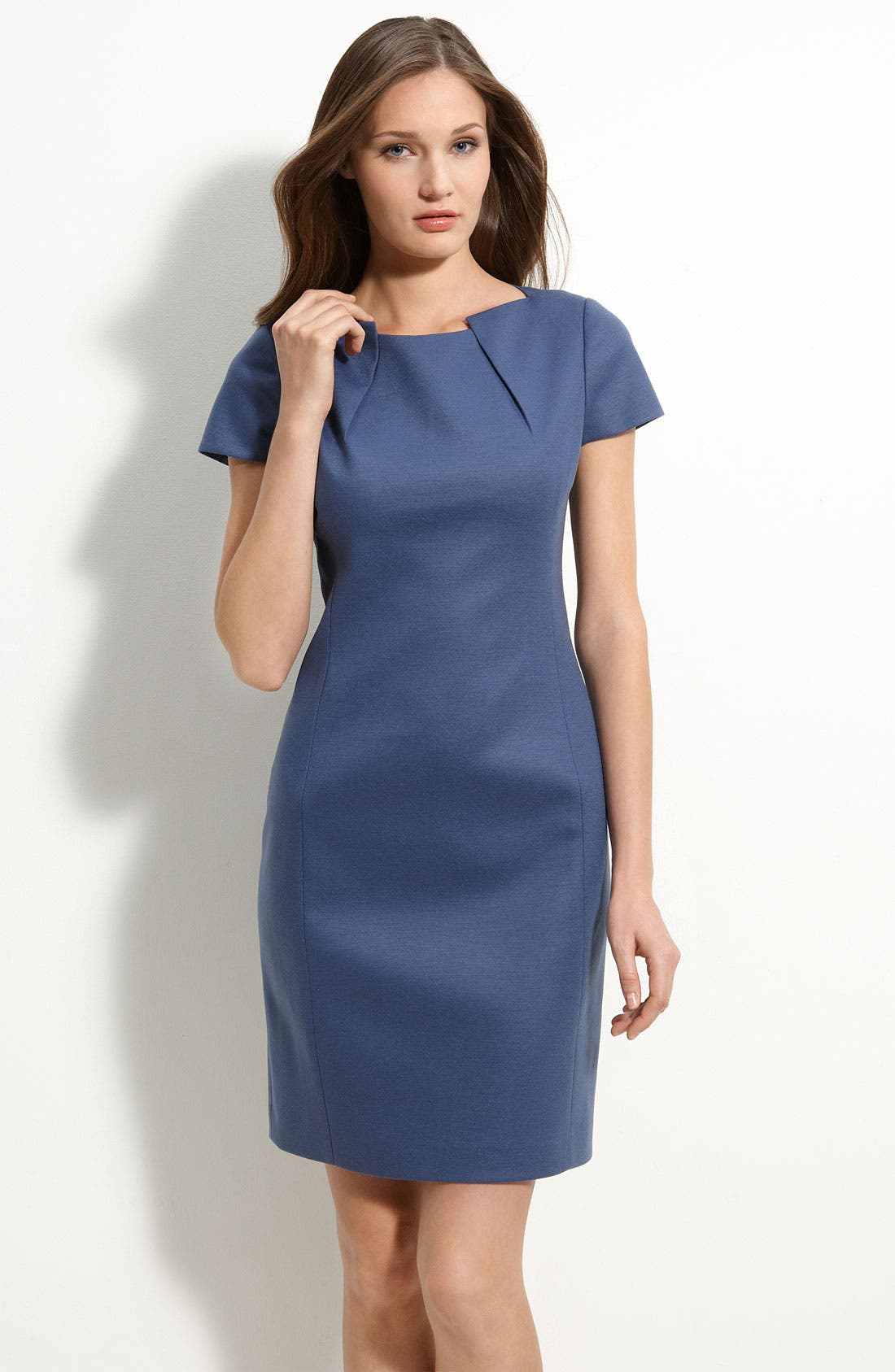 Alternate Image 1 Selected - Elie Tahari 'Alexandria' Wool Blend Sheath Dress