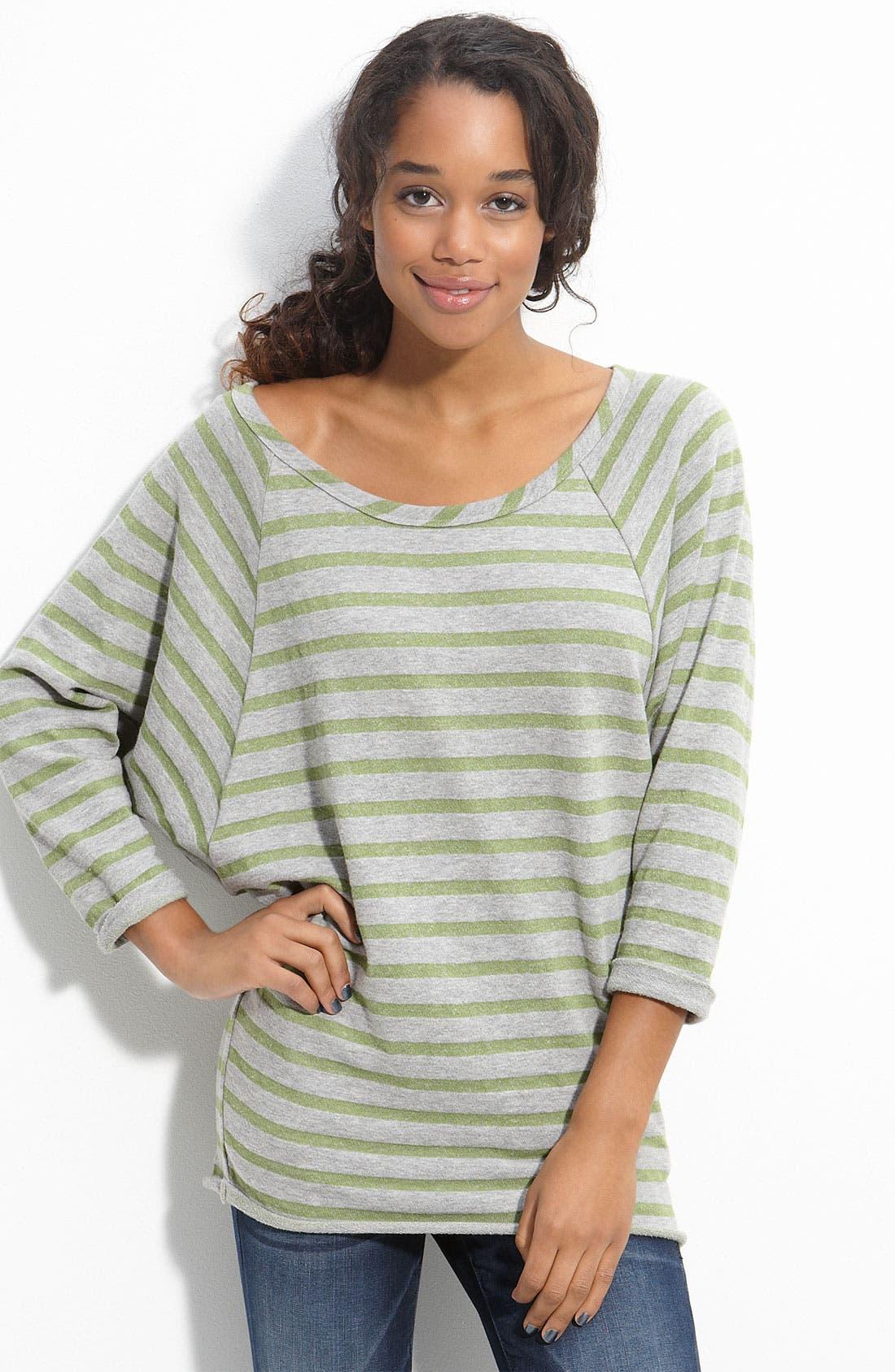 Alternate Image 1 Selected - h.i.p. Raglan Sleeve Fleece Top (Juniors)
