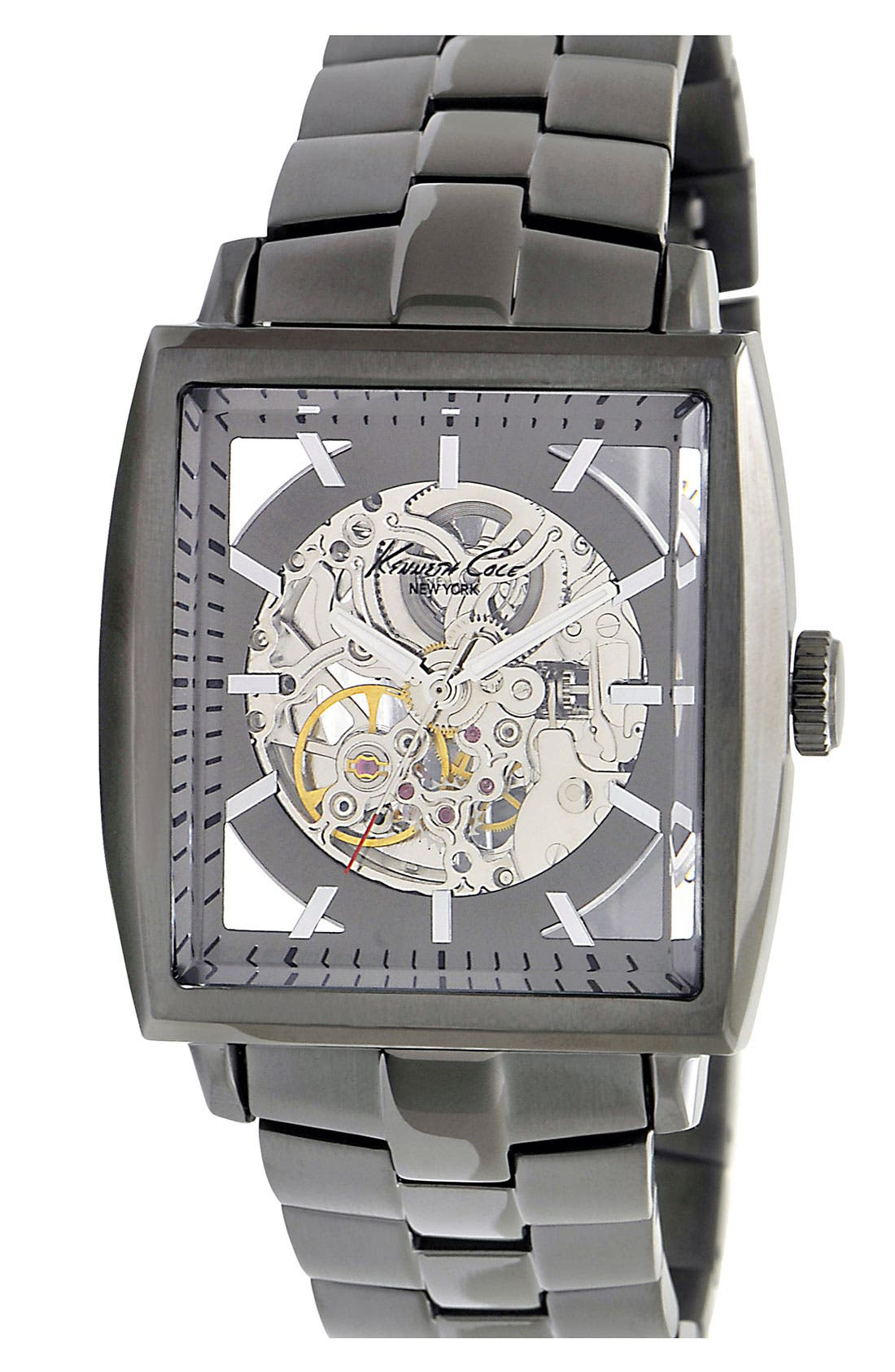 Main Image - Kenneth Cole New York Square Case Automatic Watch