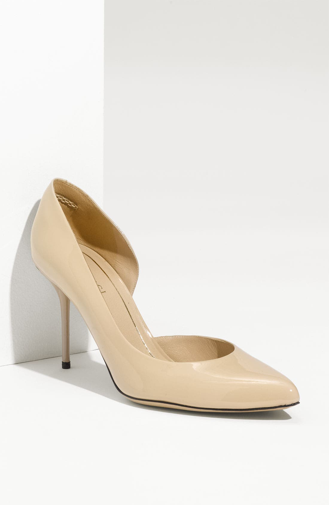 'Noah' d'Orsay Pump,                             Main thumbnail 1, color,                             Light Powder