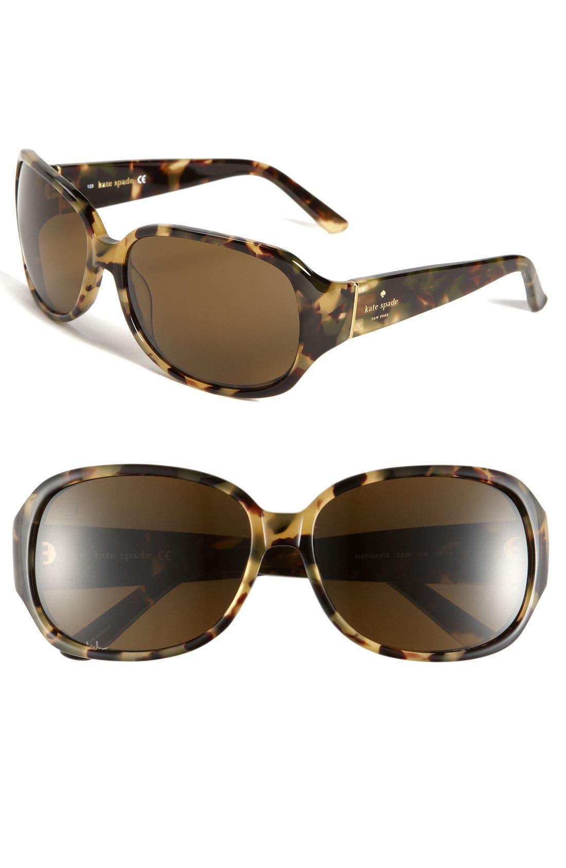 Main Image - kate spade new york 'madina' 58mm polarized sunglasses