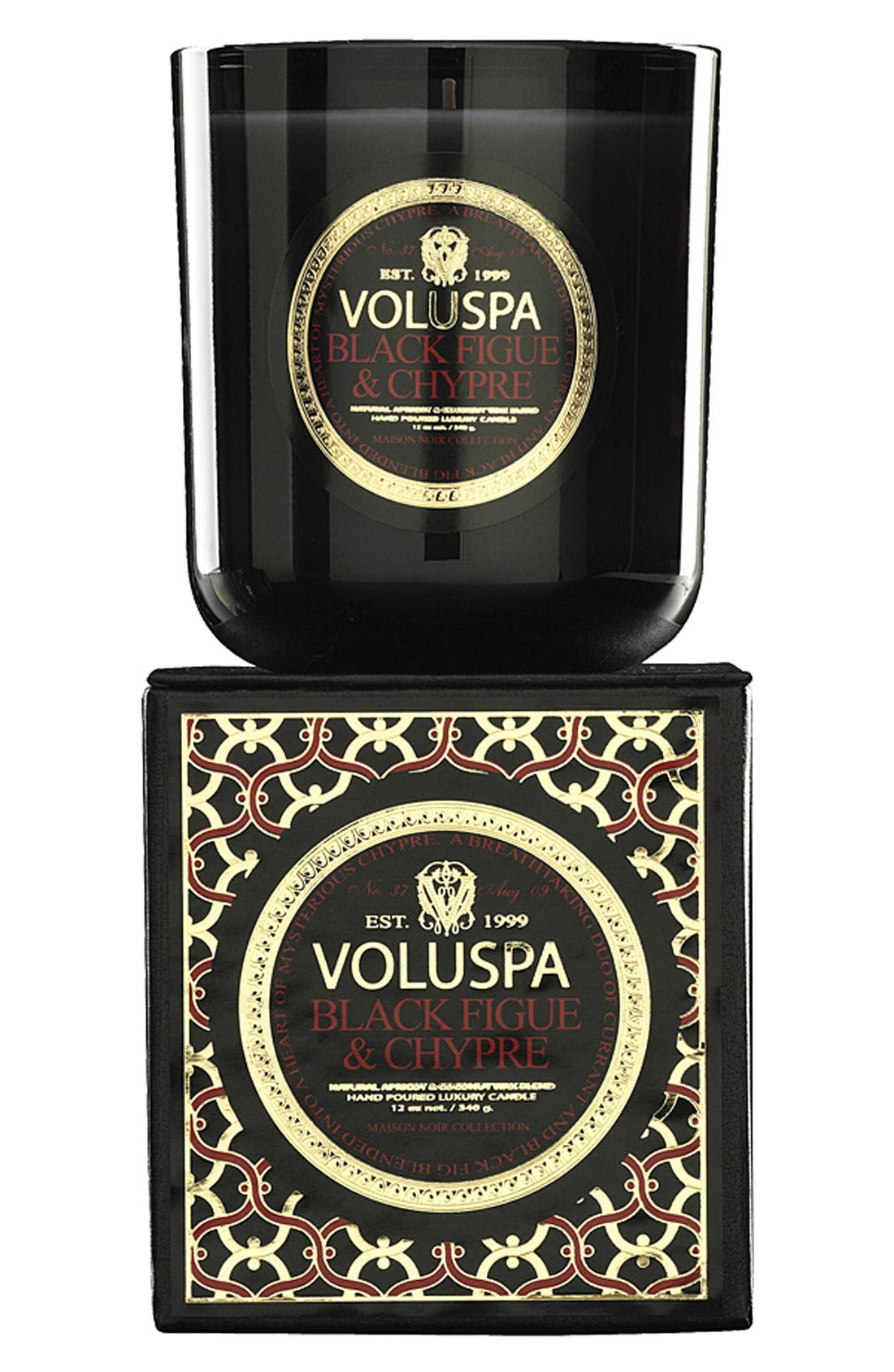 Alternate Image 1 Selected - Voluspa 'Maison Noir - Black Figue & Chypre' Scented Candle