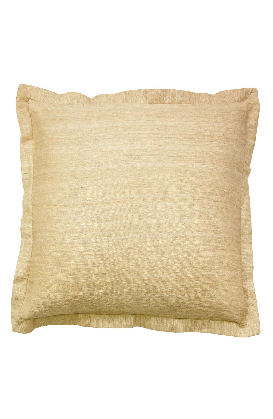 Alternate Image 1 Selected - Blissliving Home 'Colette' Raw Silk Euro Pillow (Online Only)