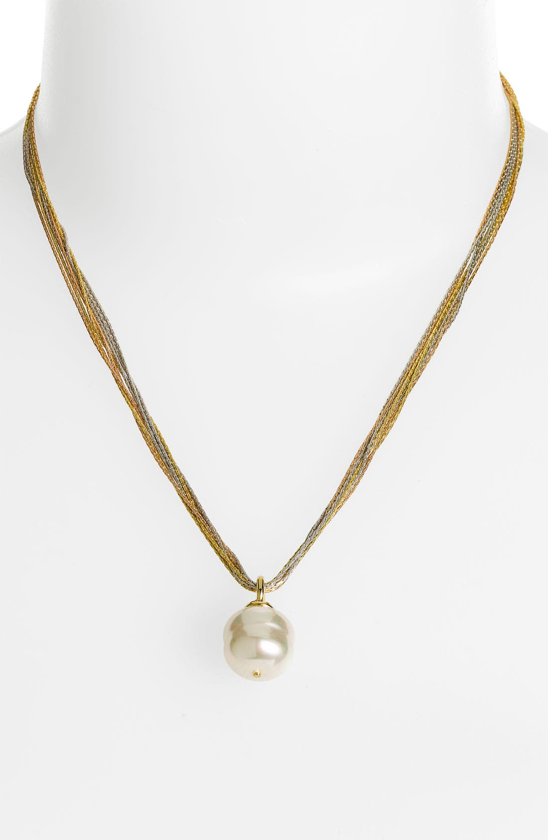 Main Image - Majorica 16mm Baroque Pearl Pendant Necklace