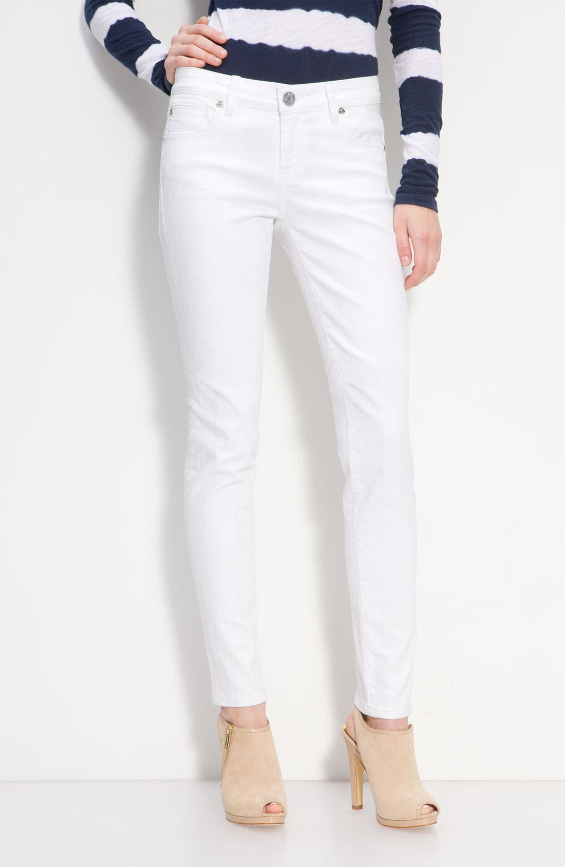 Alternate Image 1 Selected - KUT from the Kloth Skinny Jeans (White Wash)