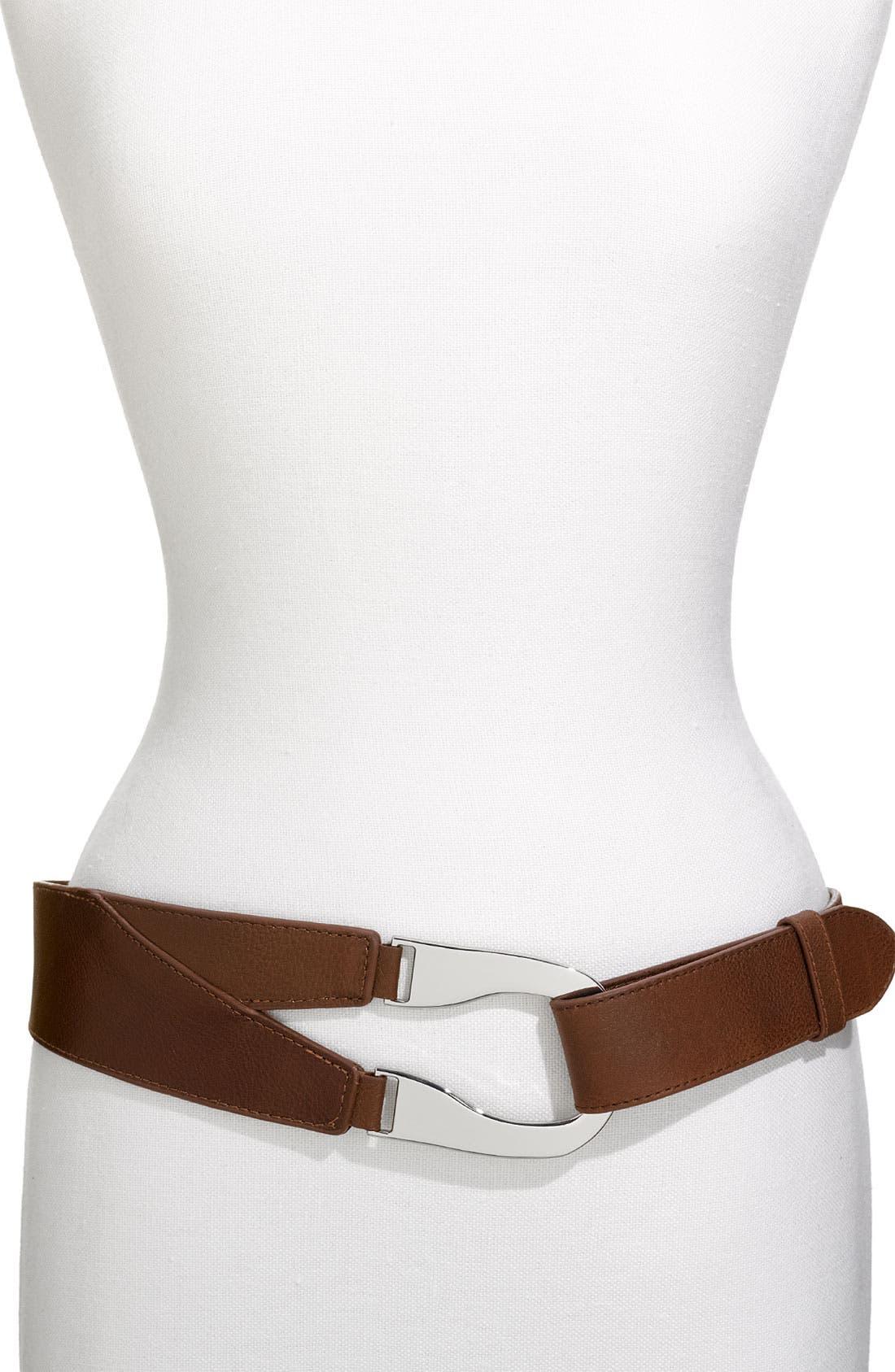 Main Image - Lafayette 148 New York Leather Belt