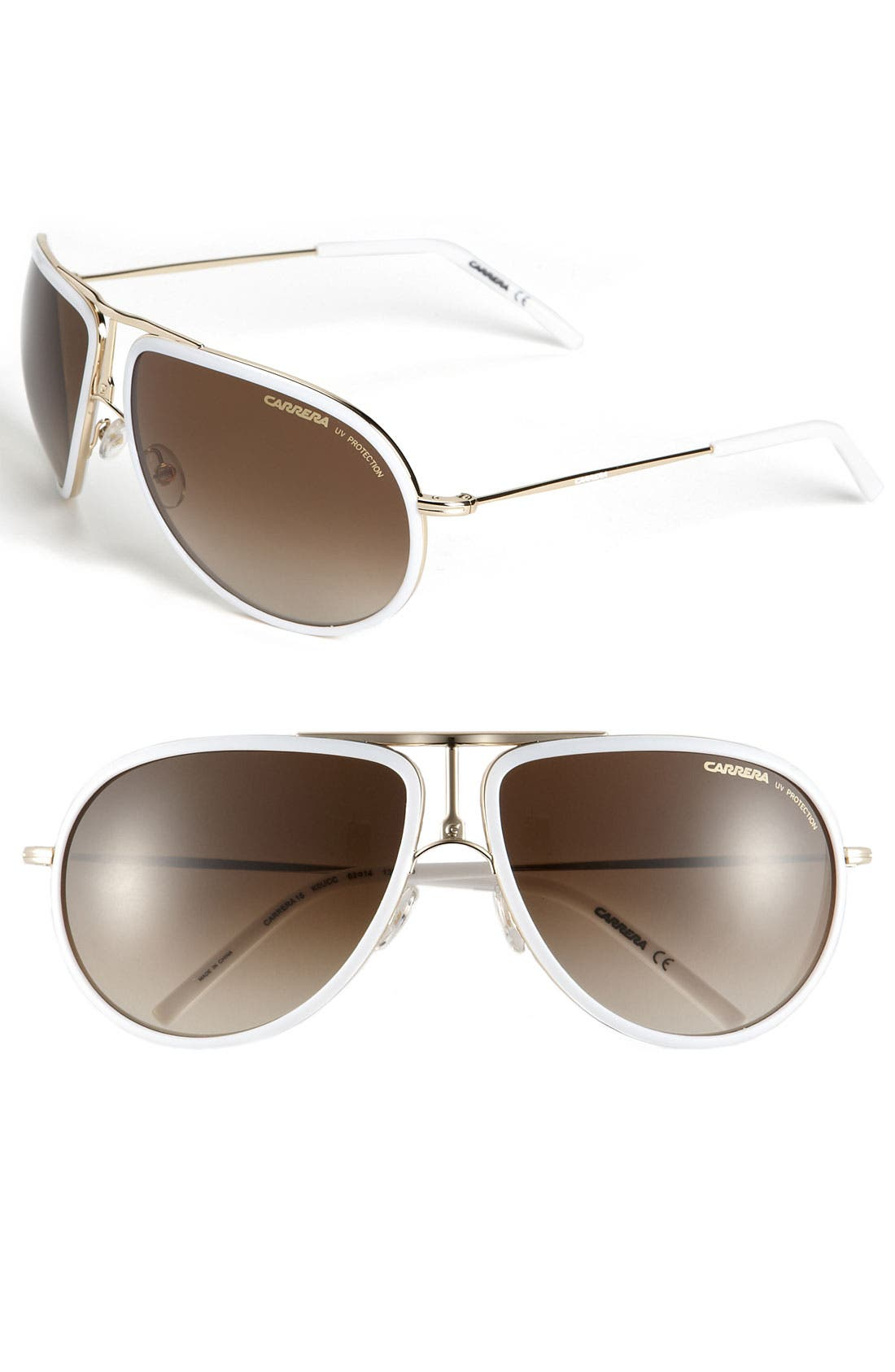 Alternate Image 1 Selected - Carrera Eyewear 63mm Metal Aviator Sunglasses