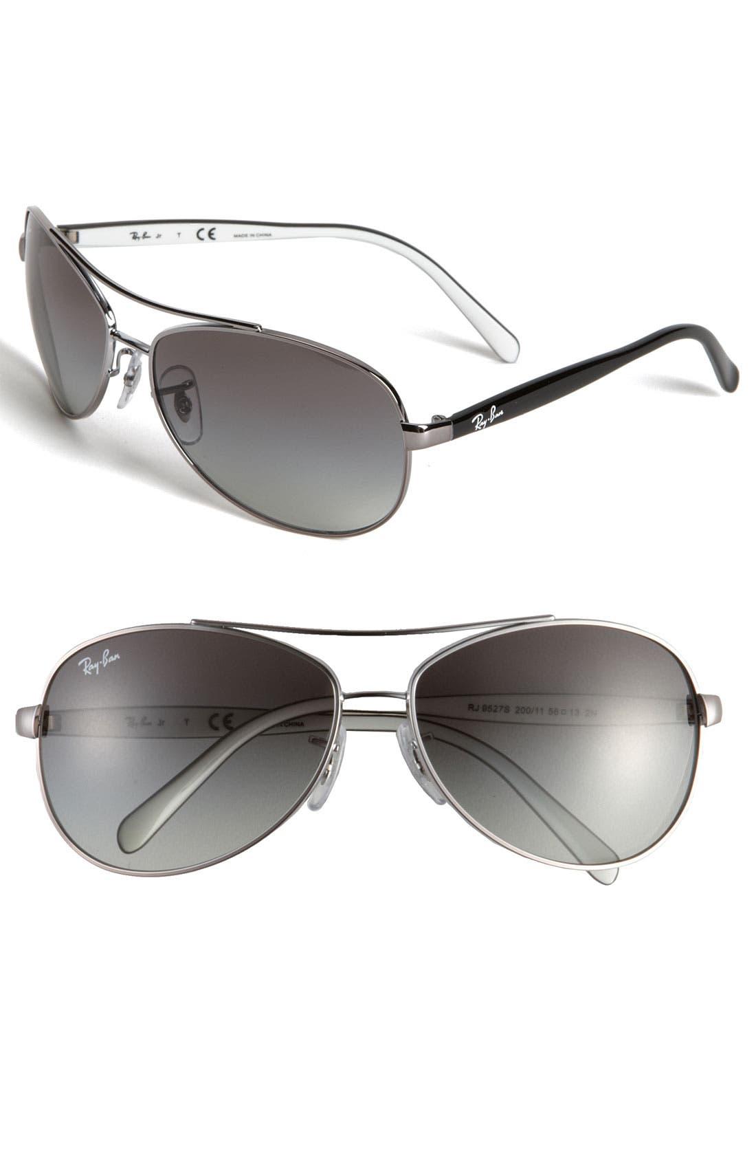 Main Image - Ray-Ban Aviator 56mm Sunglasses (Boys)